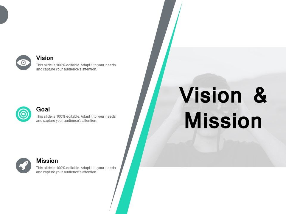 Vision And Mission Goal F285 Ppt Powerpoint Presentation Pictures Designs