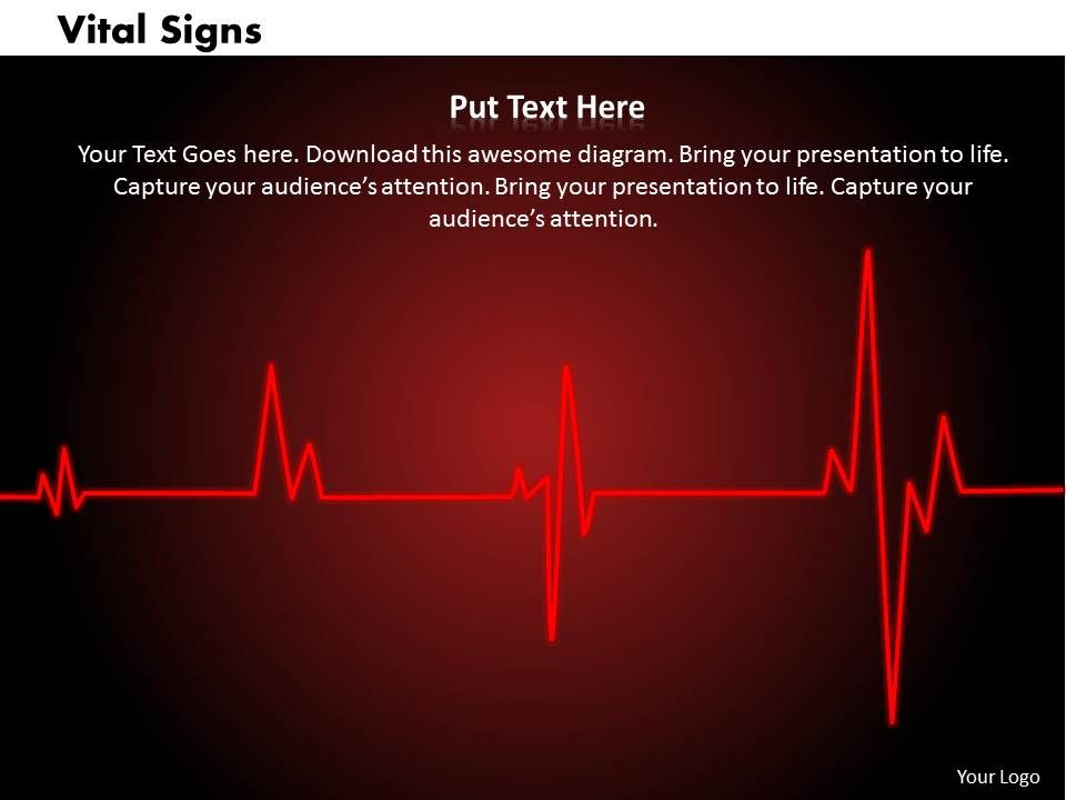vital signs powerpoint template slide | powerpoint presentation, Powerpoint templates