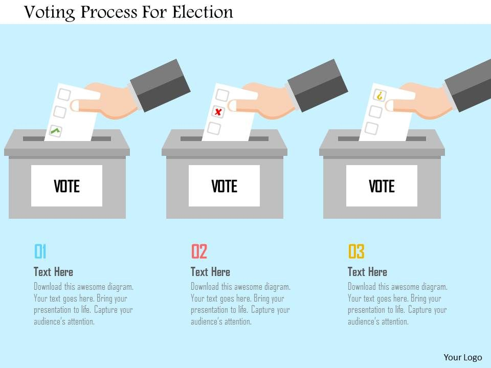 voting process for election flat powerpoint design presentation