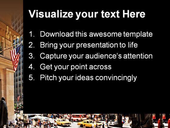 wall street americana powerpoint templates and powerpoint, Presentation templates
