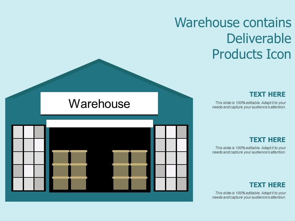 Warehouse Contains Deliverable Products Icon