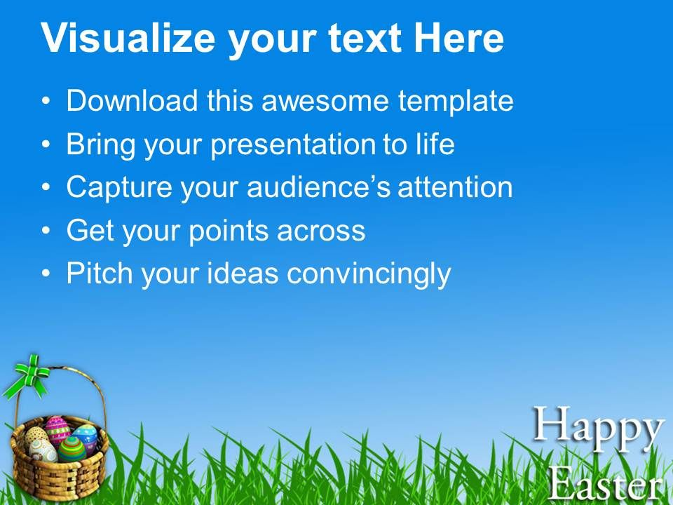 Warm Wishes Of Happy Easter Powerpoint Templates Ppt Themes And