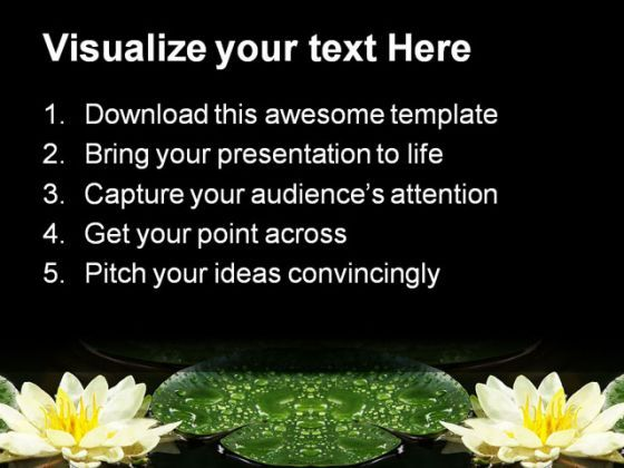 Water Lily Nature PowerPoint Templates And PowerPoint Backgrounds ...