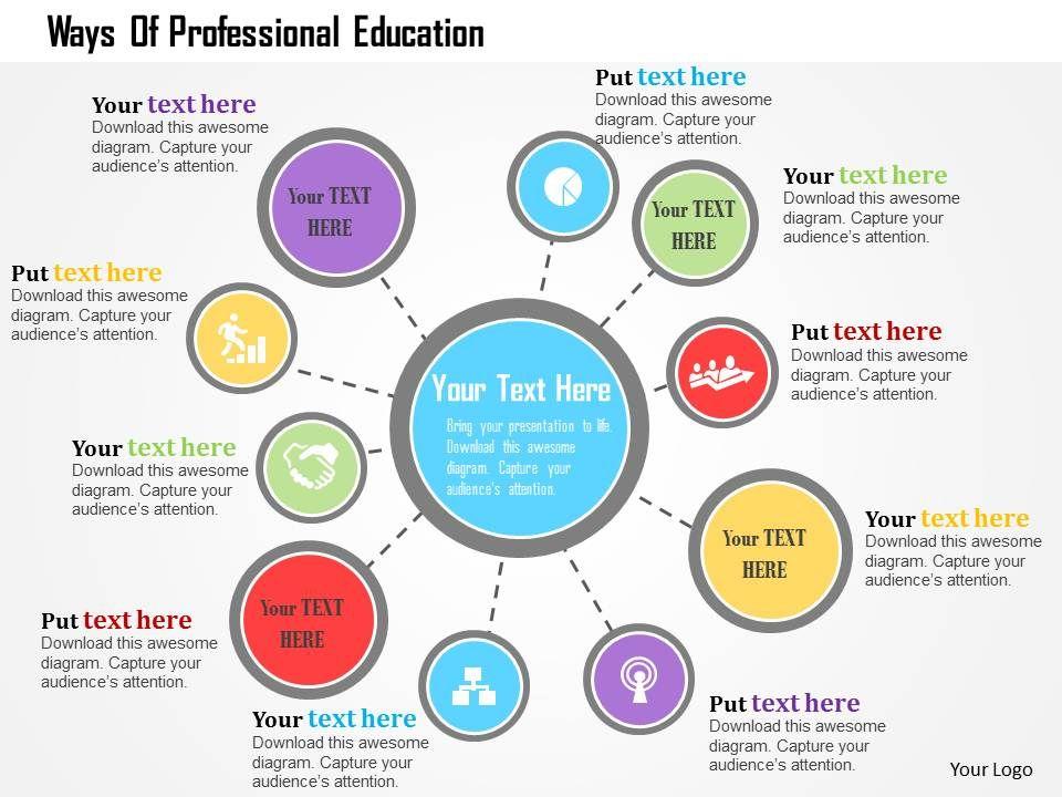 ways_of_professional_education_flat_powerpoint_design_Slide01