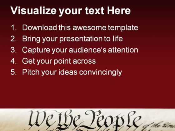 We the people americana powerpoint template 1110 powerpoint we the people americana powerpoint template 1110 presentation themes and graphics slide02 toneelgroepblik Images