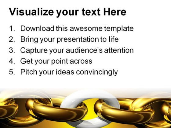 Weakest Link Security PowerPoint Template 0510   PowerPoint Shapes ...
