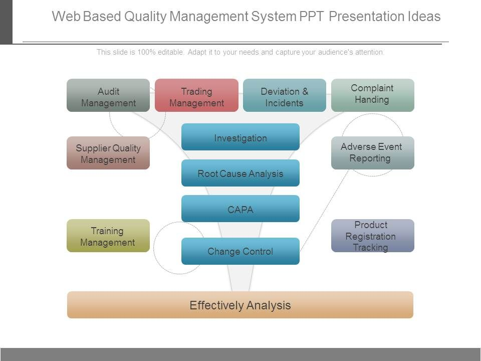 Web Based Quality Management System Ppt Presentation Ideas
