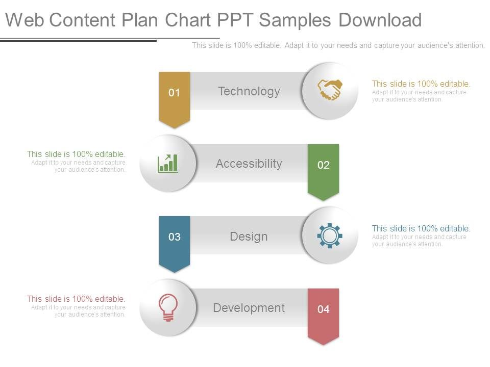 Web Content Plan Chart Ppt Samples Download  Template Presentation