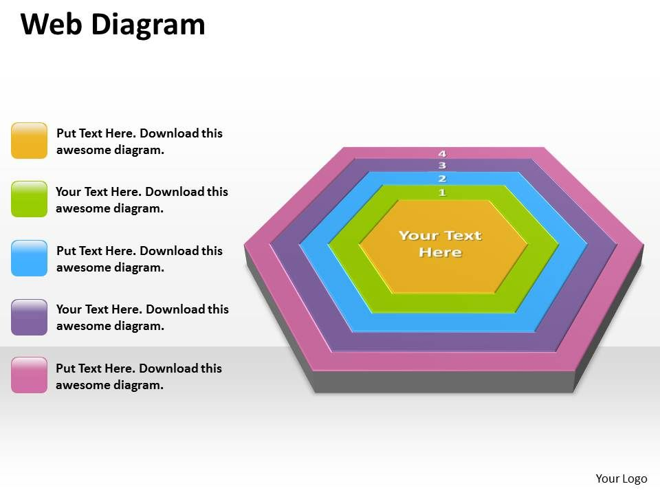 68769867 style cluster jagged 5 piece powerpoint template diagram