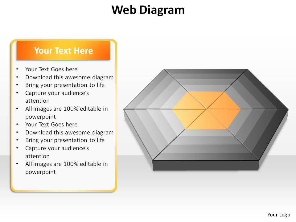Diagram web diagram template : web diagram ppt slides presentation diagrams templates ...