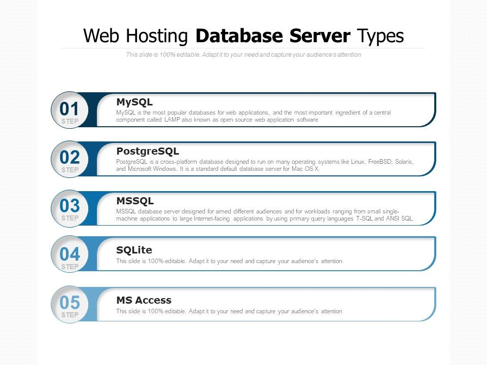 Web Hosting Database Server Types