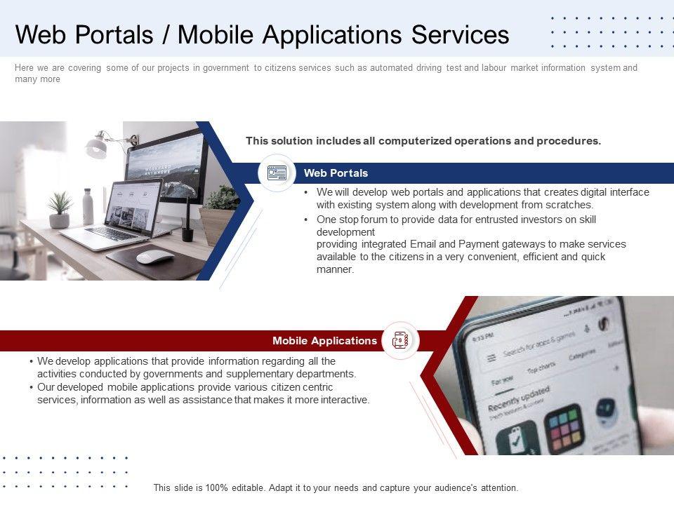Web Portals Mobile Applications Services Ppt Show Maker