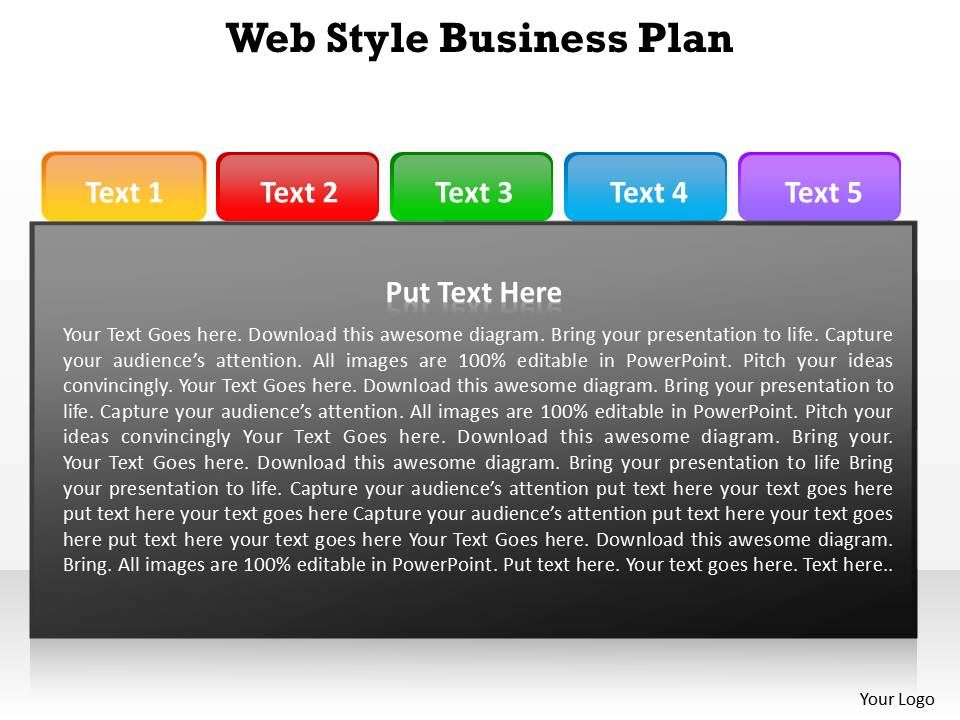 web style business with tabs on top to be able to choose easily plan, Powerpoint Presentation Template With Tabs, Presentation templates