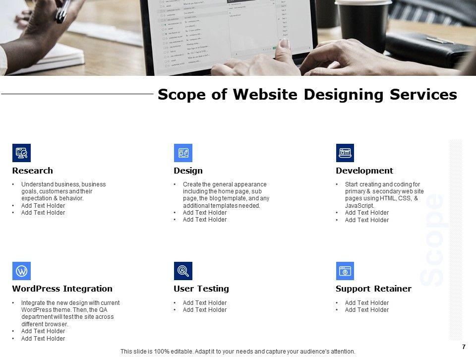 Website Designing Proposal Template Powerpoint Presentation Slides Powerpoint Presentation Templates Ppt Template Themes Powerpoint Presentation Portfolio
