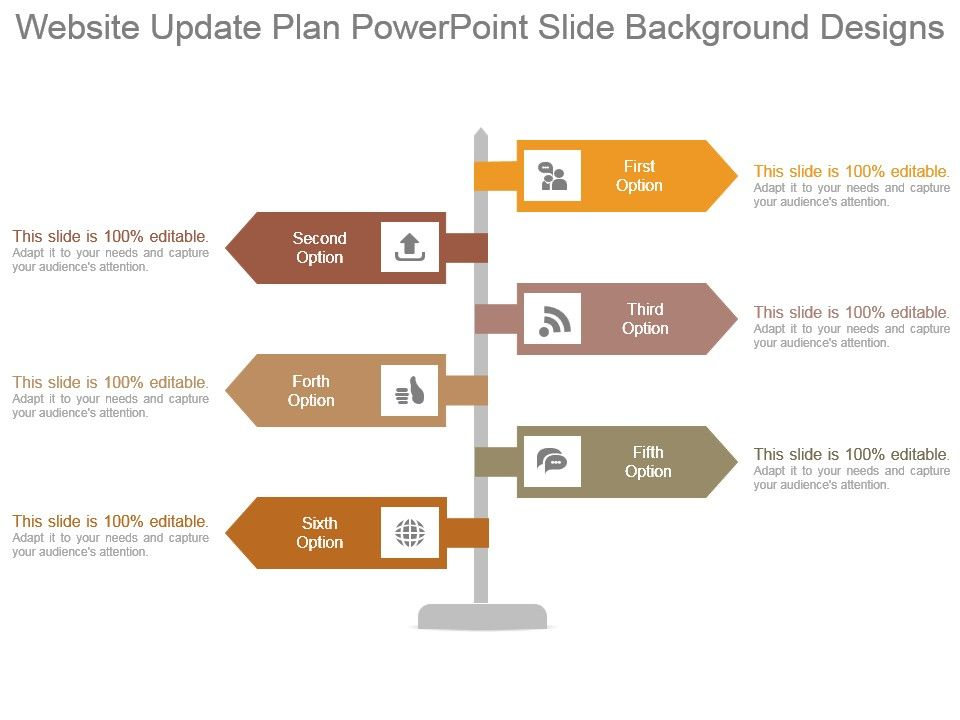 website update plan powerpoint slide background designs, Modern powerpoint