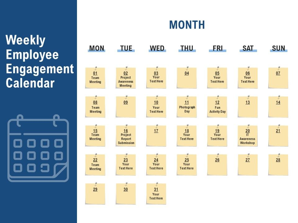 Weekly Employee Engagement Calendar