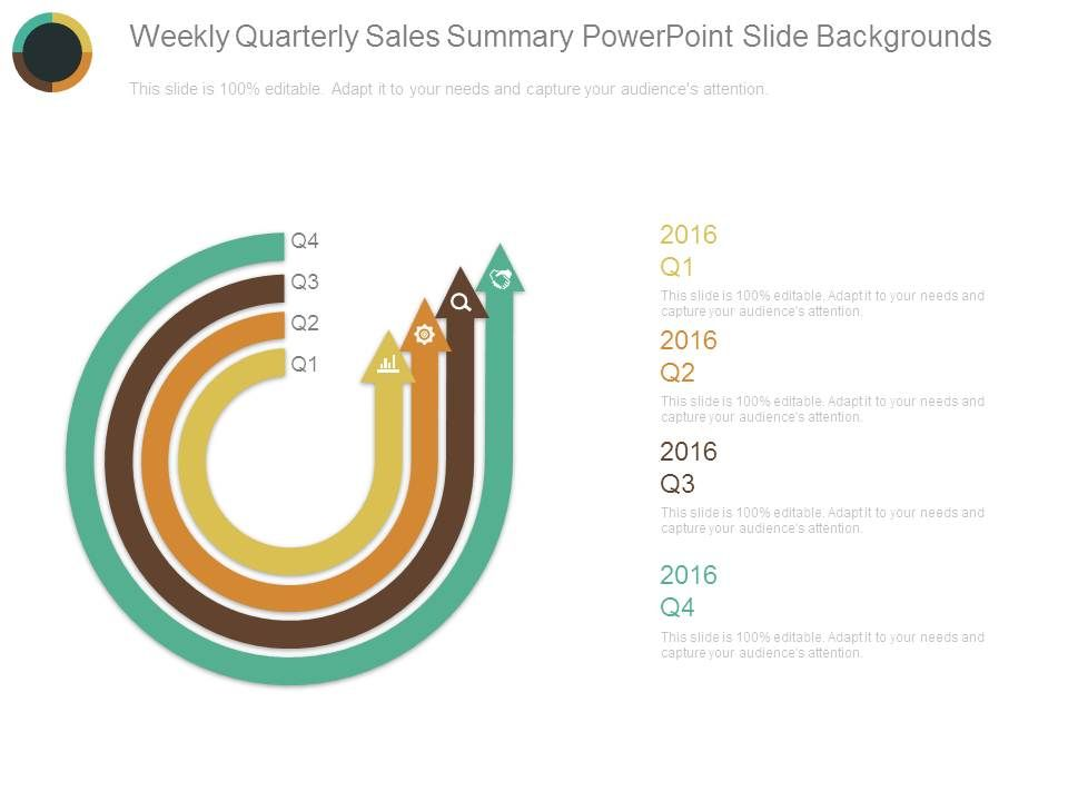 weekly quarterly sales summary powerpoint slide backgrounds, Presentation templates