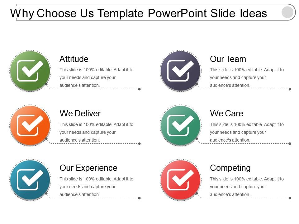 Why Choose Us Template Powerpoint Slide Ideas Presentation