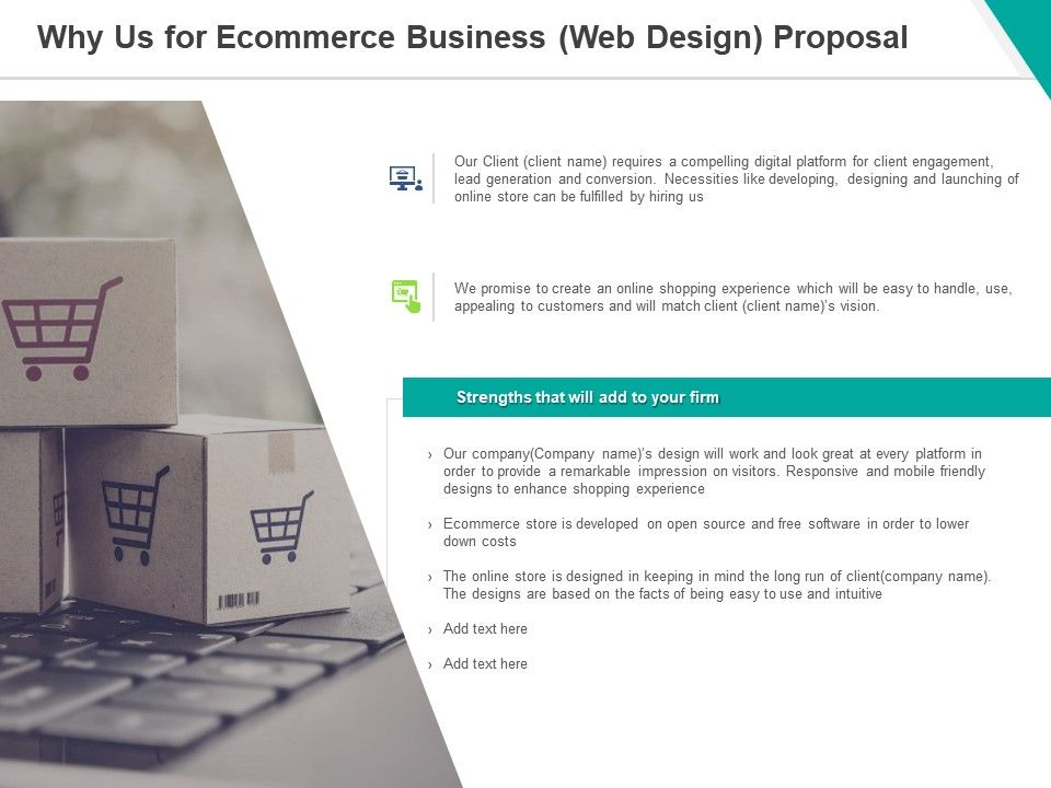 Why Us For Ecommerce Business Web Design Proposal Ppt Powerpoint Presentation Model Pictures Presentation Graphics Presentation Powerpoint Example Slide Templates