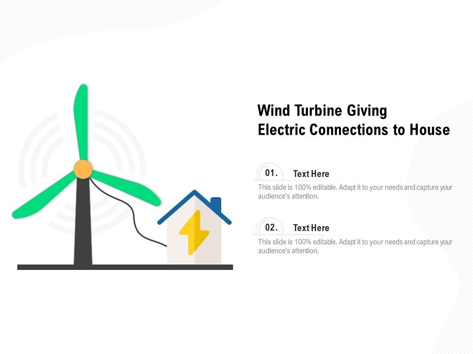 Wind Turbine Giving Electric Connections To House