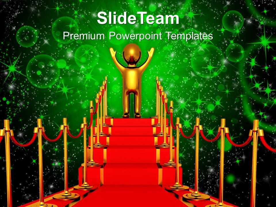 winner on a red carpet powerpoint templates ppt themes and graphics