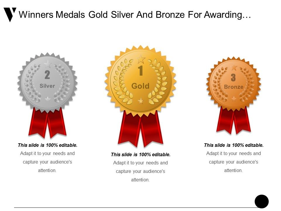 winners_medals_gold_silver_and_bronze_for_awarding_prize_ppt_example_Slide01