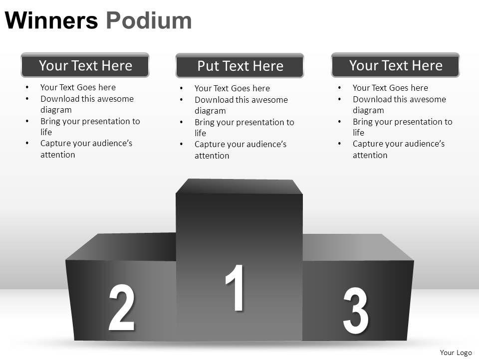 winners podium powerpoint presentation slides | powerpoint slide, Presentation templates
