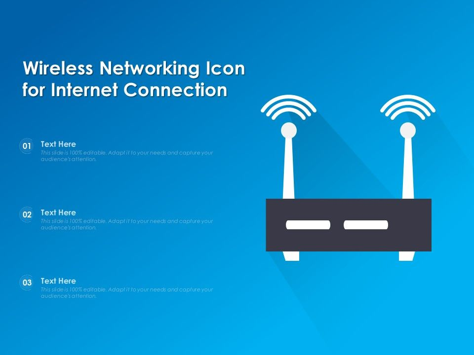 Wireless Networking Icon For Internet Connection