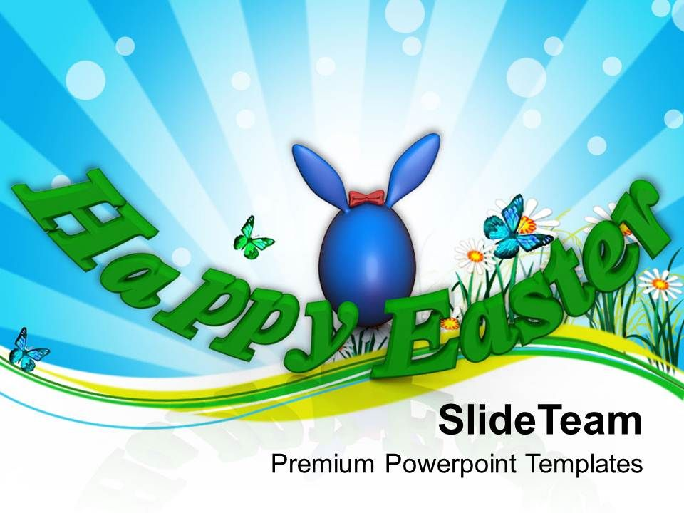 Wish Your Friends Happy Easter Powerpoint Templates Ppt Themes And