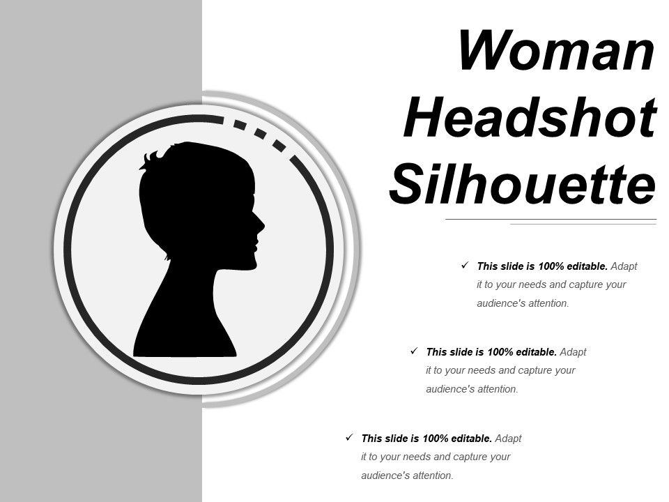 Woman Headshot Silhouette Powerpoint Guide | Templates PowerPoint