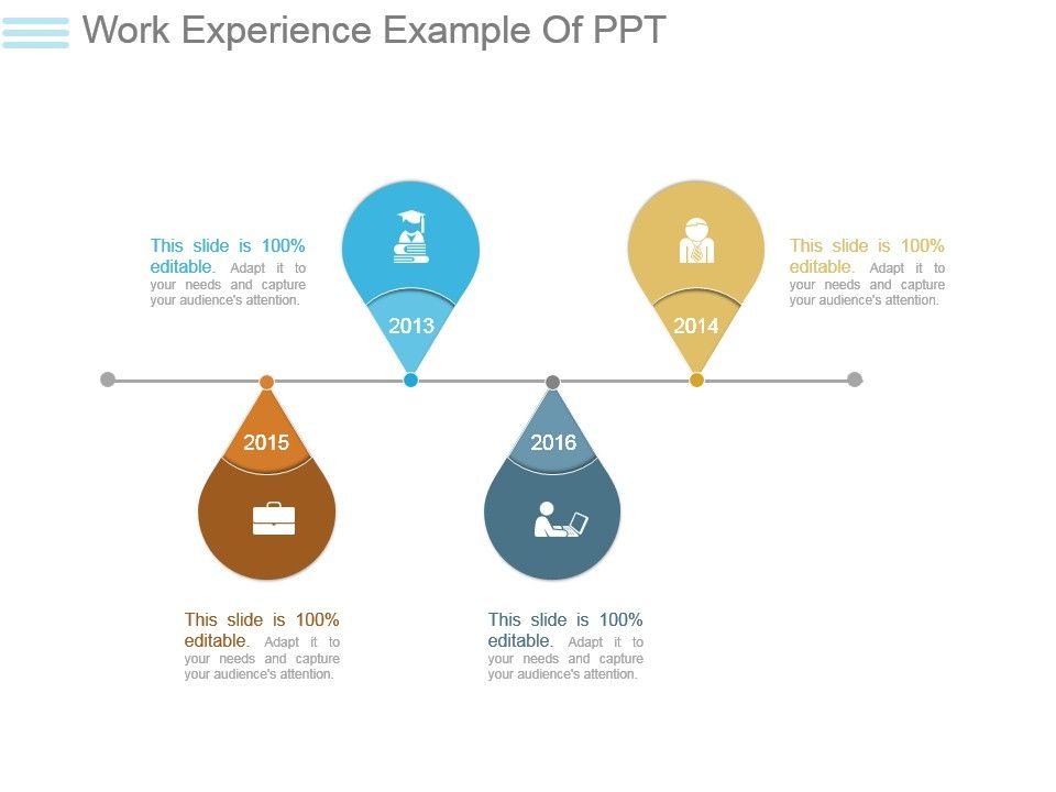 work experience example of ppt powerpoint shapes powerpoint