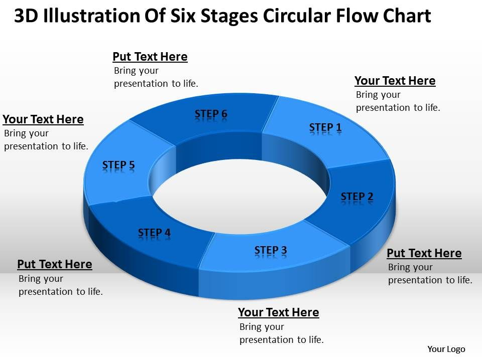 work_flow_business_process_diagram_illustration_of_six_stages_circular_chart_powerpoint_slides_Slide01
