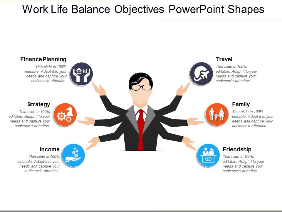 work life balance objectives powerpoint shapes powerpoint