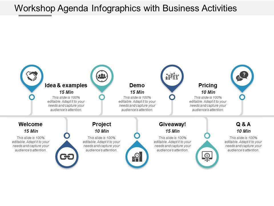 Workshop Agenda Infographics With Business Activities ...