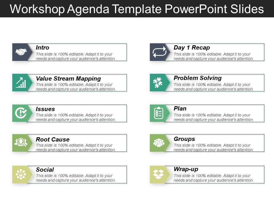 Workshop Agenda Template Powerpoint Slides | PowerPoint Design ...