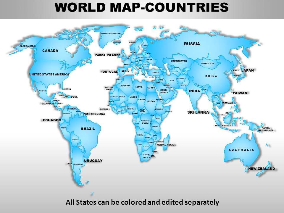 World Continents PowerPoint Maps | PowerPoint Slides Diagrams ...