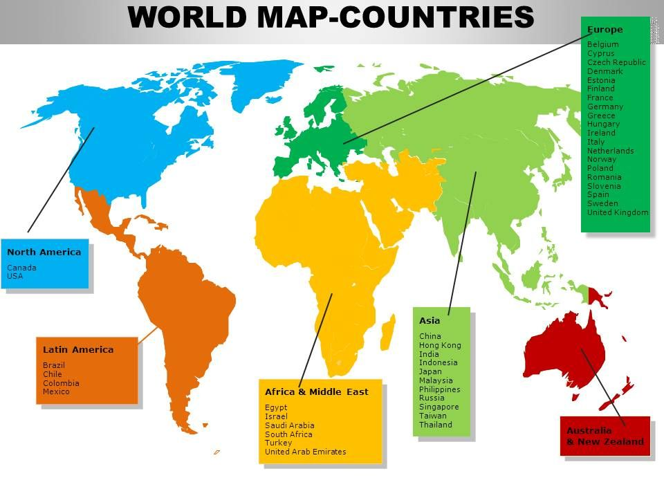 World Continents PowerPoint Maps | PowerPoint Slides ...