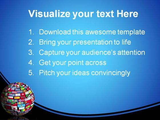 World Flags Globe Earth Point Background And Template 1210 Presentation Themes Graphics Slide02