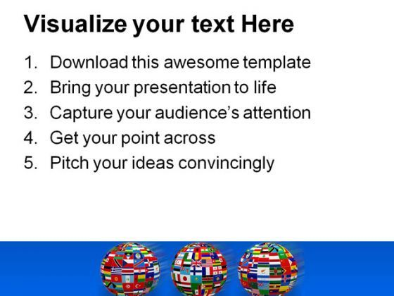 World Flags Globe Point Template 1110 Presentation Themes And Graphics Slide03