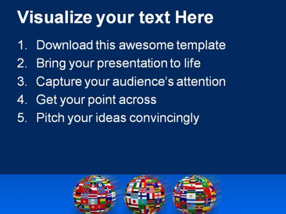 world flags globe powerpoint template 1110 ppt images gallery