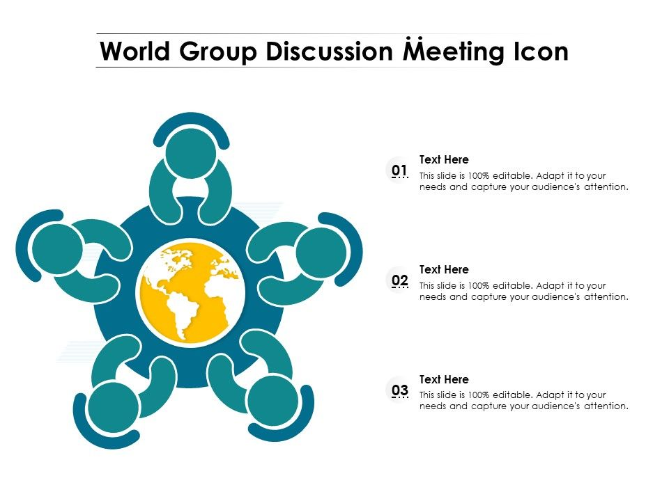 World Group Discussion Meeting Icon