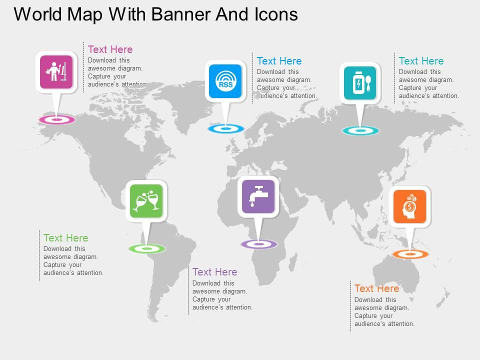 World Map With Various Banners And Icons Ppt Presentation ... on create maps for presentations, maps for speeches, make maps for presentations, maps for marketing, us maps for presentations, business cartoons for presentations, maps for writing, maps for first grade, clip art presentations, maps for email, maps for home, maps for brochures, editable maps for presentations, maps for games, maps for reports, maps for projects, maps for ppt, maps for books, world map for presentations, maps for invitations,
