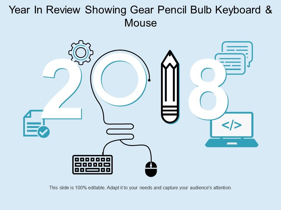 year_in_review_showing_gear_pencil_bulb_keyboard_and_mouse_Slide01