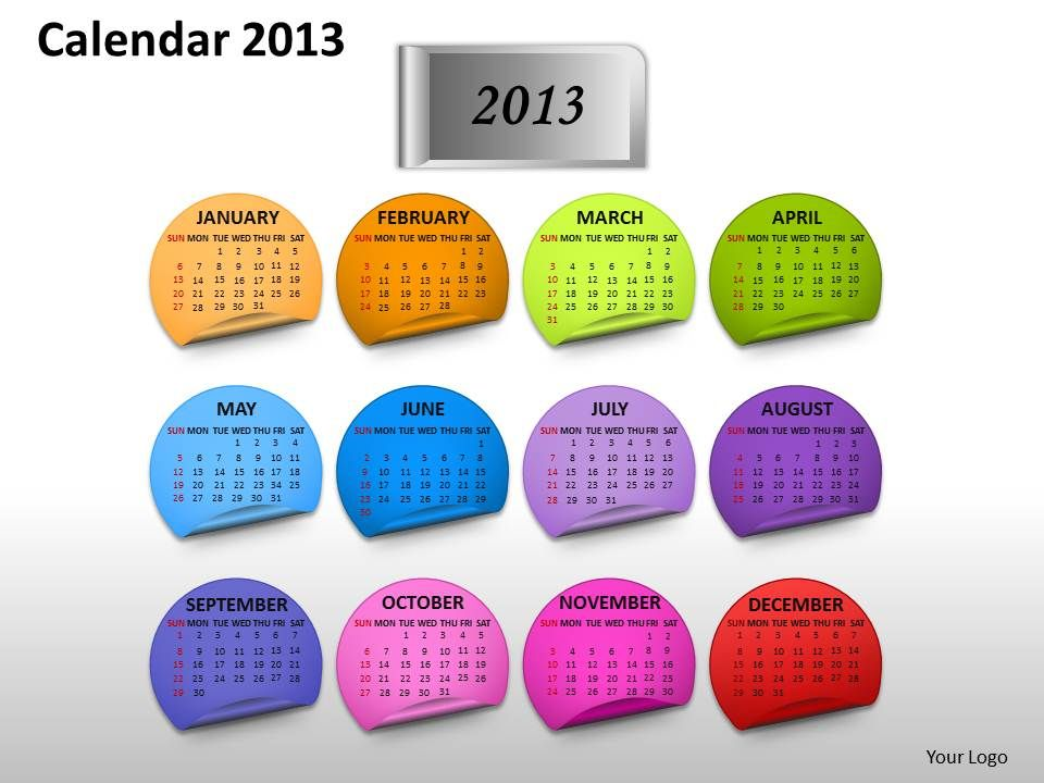 yearly_calender_2013_powerpoint_slides_ppt_templates_Slide01