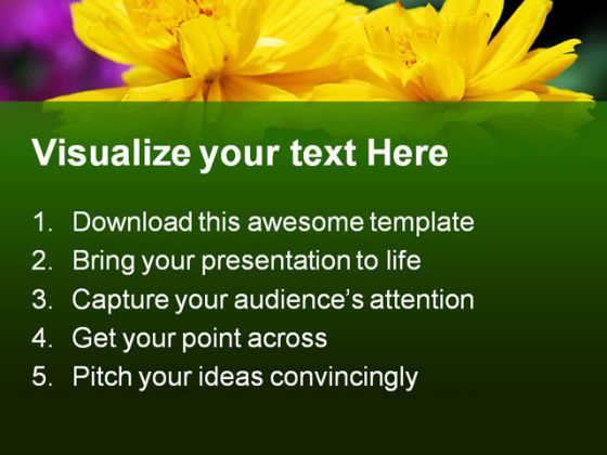 Yellow Flowers Nature Powerpoint Templates And Powerpoint