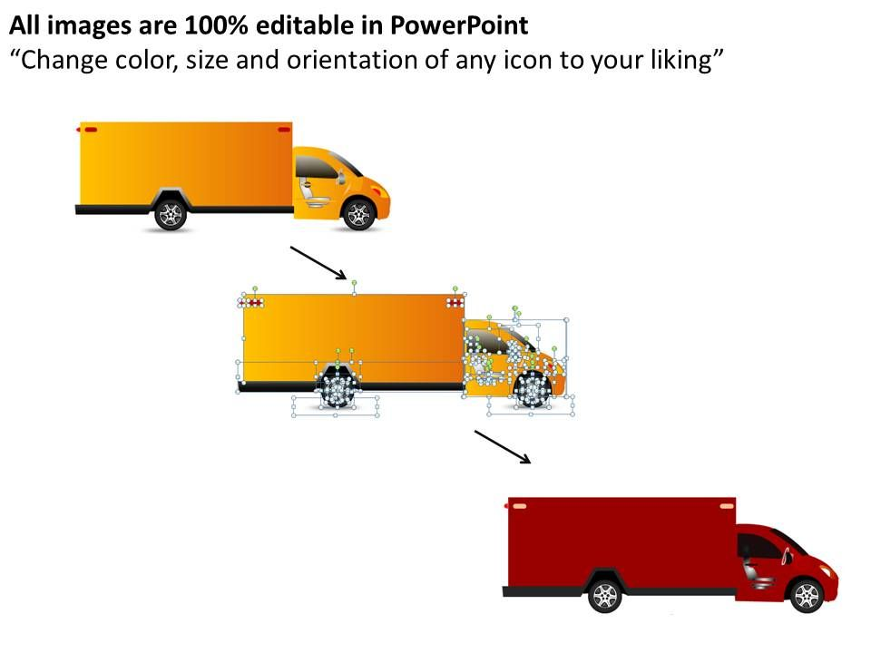 Yellow Truck Side View Powerpoint Presentation Slides Db