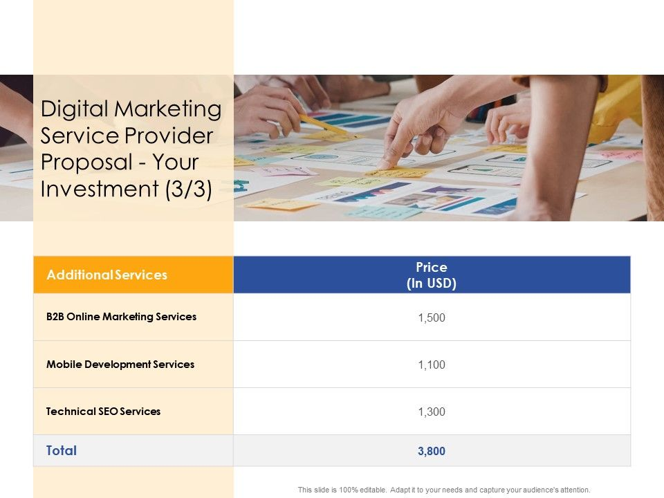 Your Investment Technical Digital Marketing Service Provider Proposal Ppt Powerpoint Inspiration Shapes