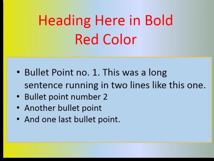 Bad color scheme