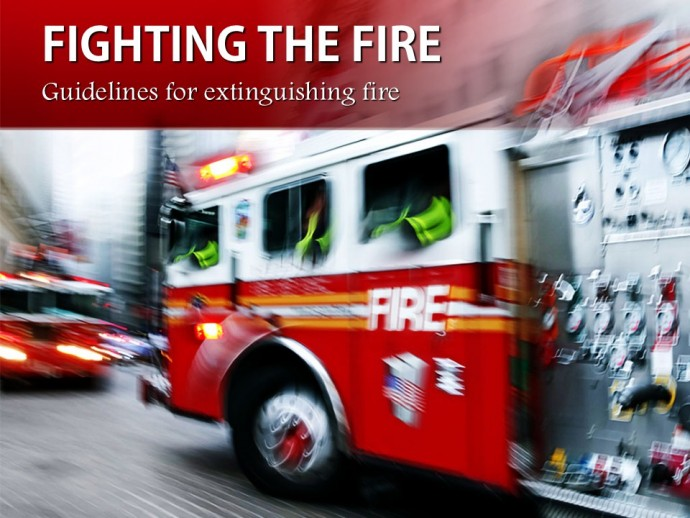 Fighting the fire PowerPoint Template to show urgency