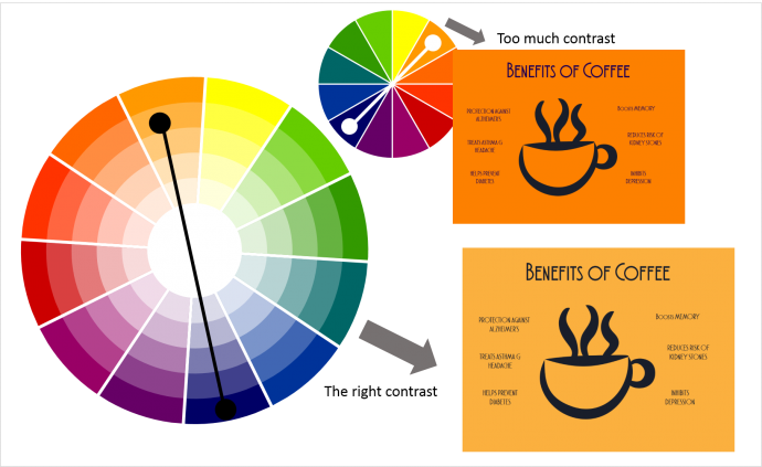 How to use complementary color scheme more effectively